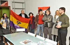 Julián Vadillo en nombre del Foro por la Memoria y de la CNT, durante el homenaje a Canuto. Foto: Nacho Izquierdo