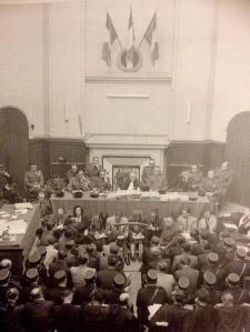 Juicio en 1953 celebrado en Burdeos. Los 21 acusados fueron duramente condenados pero amnistiados por el gobierno francés.