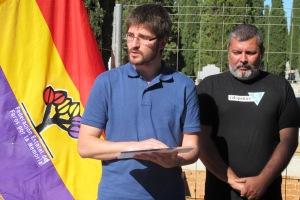 julian Vadillo (Foro por la Memoria) y Luis Alonso (Amical)