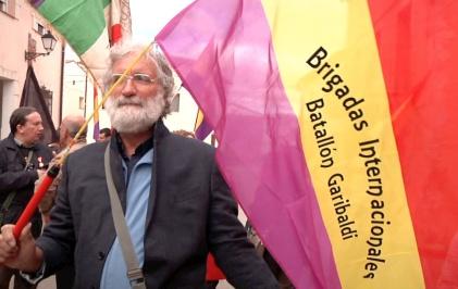 Marco Puppini, vicepresidente de AICVAS, (Associazione Italiana Combattenti Volontari Antifascisti di Spagna)