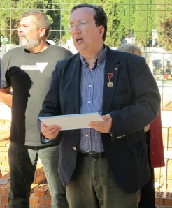 Pedro A. García Bilbao, presidente del Foro por la Memoria de Guadalajara