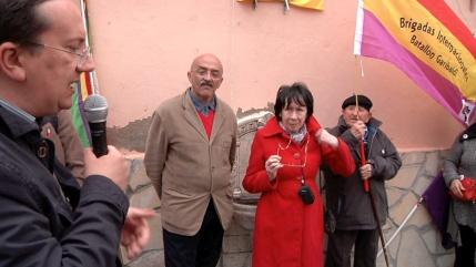 Presentación del acto, a cargo del presidente del Foro por la Memoria de Guadalajara, Pedro García Bilbao.
