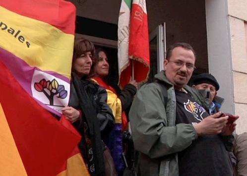 Xulio Garcia lee el comunicado del Foro por la Memoria