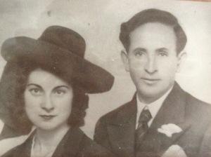 Trifón Cañamares, con su compañera Rosa Moreno. Foto: Familia Cañamares