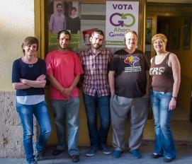 Miembros del Foro por la Memoria y de Ahora Guadalajara durante la reunión.