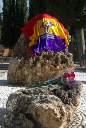 Fosa común del pario 4º del cementerio, lugar de asesinato de mas de 800 demócratas.