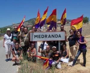 La Brigada Medranda del Foro, en el Homenaje de 2012 (Foto FMGU)