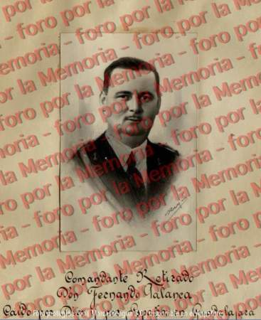 Retrato de Fernando Palanca, en una orla dedicada a los