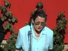 Ángeles García-Madrid en el homenaje a las 13 rosas rojas, el 5 de agosto de 2009