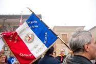 Bandera de la asociacion francesa de las BBII. Óscar de Marcos/FMGU