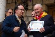 Entrega de diploma al brigadista francés Josep Almudever Torija. Óscar de Marcos/FMGU
