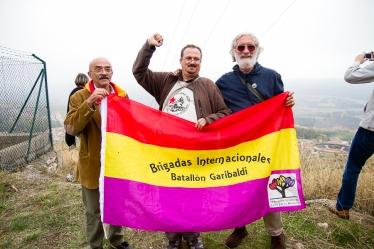 Con los compañeros italianos en el mirador de Brihuega. Óscar de Marcos/FMGU
