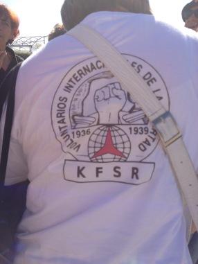 Camiseta de los compañeros alemanes. Xulio Garcia/FMGU