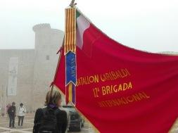 Bandera de los compañeros italianos de AICVAS. Xulio Garcia/FMGU