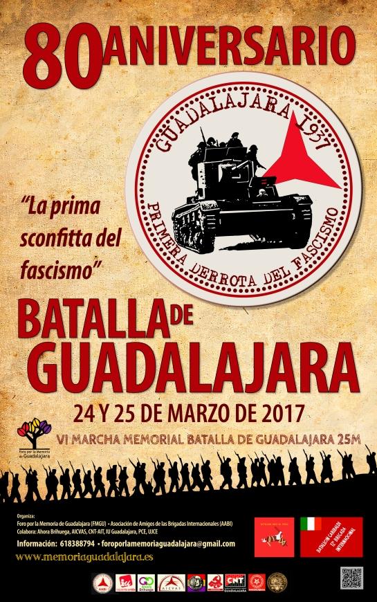 CARTEL 80 ANIVERSARIO BATALLA DE GUADALAJARA