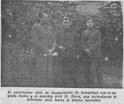 La Libertad 6-8-1936 capitan rubio y Benavides Guadalajara